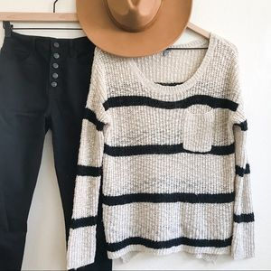 Women's Charlotte Russe Striped Scoop Neck Sweater